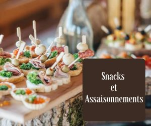 Snacks, Tapas, Assaissonements